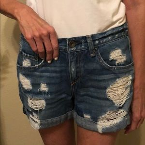 Rag & Bone distressed shorts